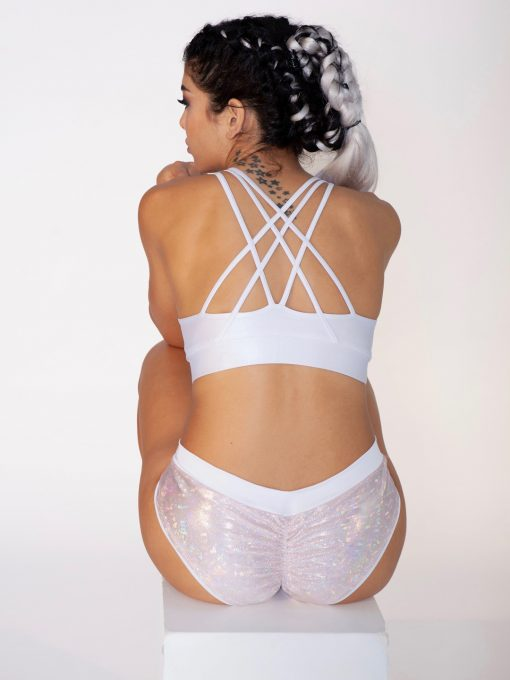 dushko shorts joy mystique white