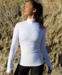 dushko shirt rey mesh white