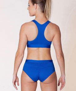 dushko sports bra tribal blue